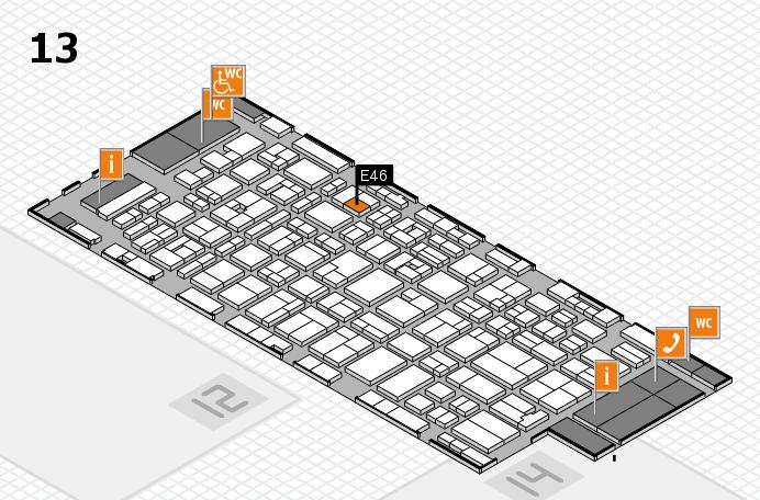 MEDICA 2016 hall map (Hall 13): stand E46