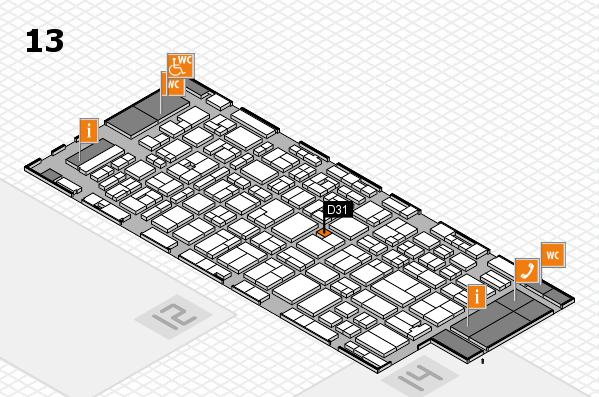 MEDICA 2016 hall map (Hall 13): stand D31