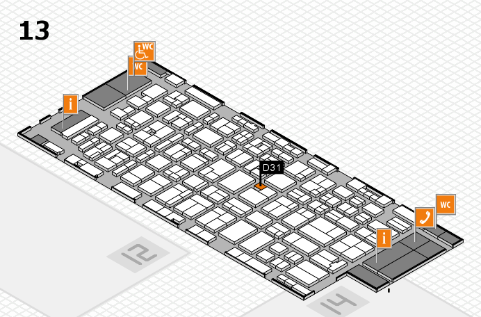 MEDICA 2016 hall map (Hall 13): stand D31