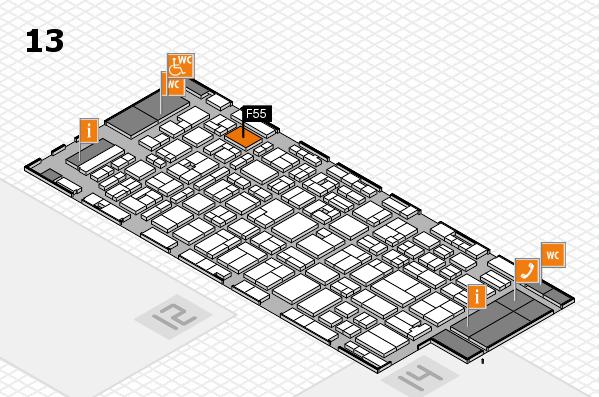 MEDICA 2016 hall map (Hall 13): stand F55
