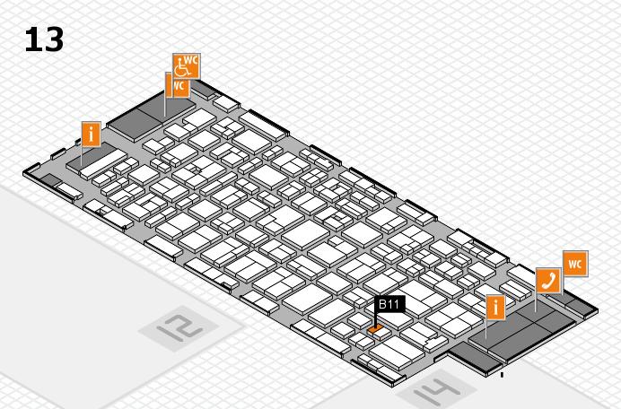 MEDICA 2016 hall map (Hall 13): stand B11