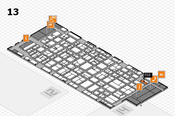 MEDICA 2016 hall map (Hall 13): stand F03