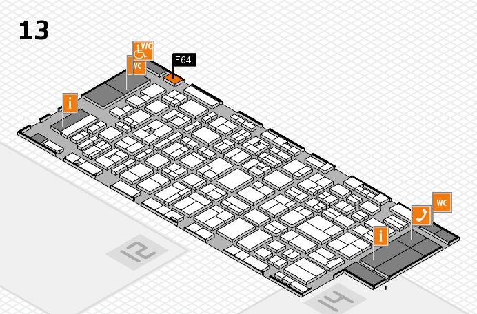 MEDICA 2016 hall map (Hall 13): stand F64