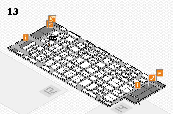 MEDICA 2016 hall map (Hall 13): stand C62