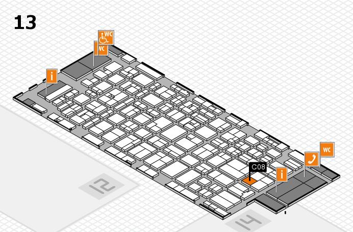 MEDICA 2016 hall map (Hall 13): stand C08