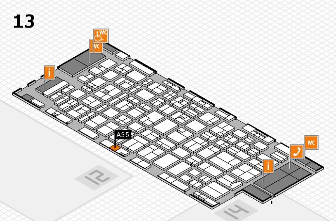 MEDICA 2016 Hallenplan (Halle 13): Stand A35