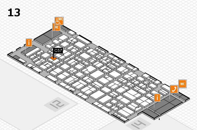 MEDICA 2016 Hallenplan (Halle 13): Stand C57