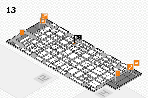 MEDICA 2016 hall map (Hall 13): stand E40