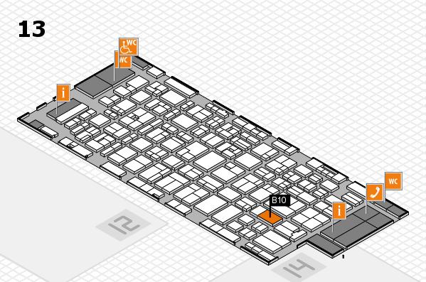 MEDICA 2016 hall map (Hall 13): stand B10