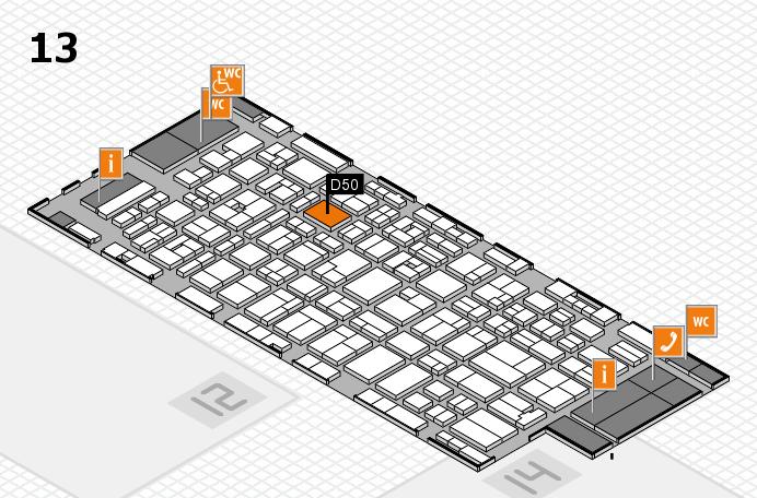 MEDICA 2016 hall map (Hall 13): stand D50