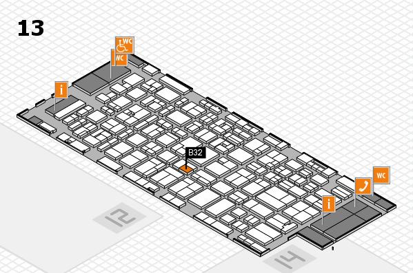 MEDICA 2016 hall map (Hall 13): stand B32