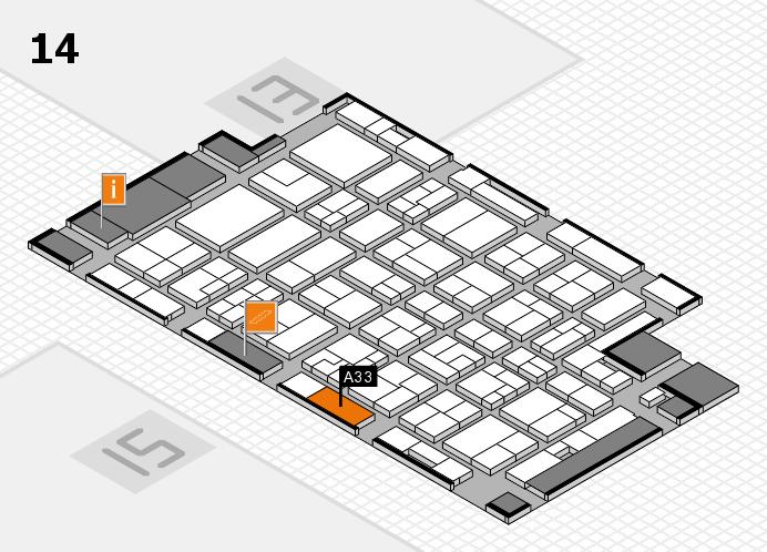 MEDICA 2016 hall map (Hall 14): stand A33