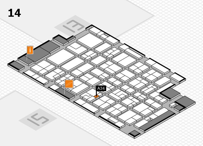 MEDICA 2016 hall map (Hall 14): stand A34