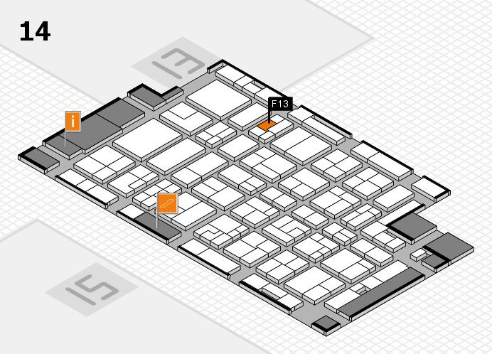 MEDICA 2016 hall map (Hall 14): stand F13