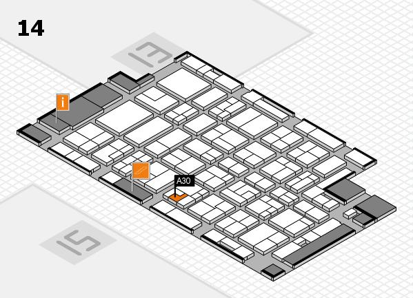 MEDICA 2016 hall map (Hall 14): stand A30