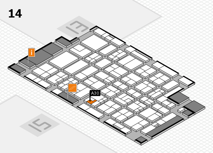 MEDICA 2016 hall map (Hall 14): stand A30