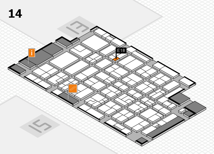 MEDICA 2016 Hallenplan (Halle 14): Stand E18