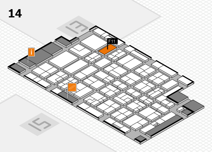 MEDICA 2016 Hallenplan (Halle 14): Stand F11