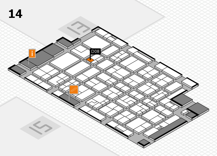 MEDICA 2016 hall map (Hall 14): stand D08