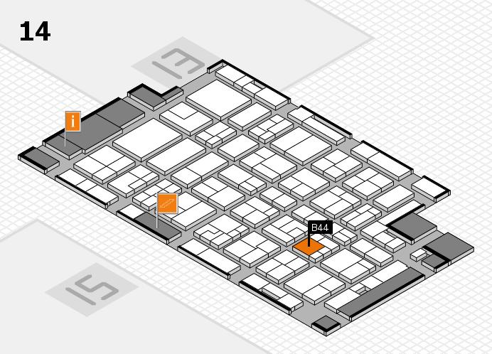MEDICA 2016 hall map (Hall 14): stand B44