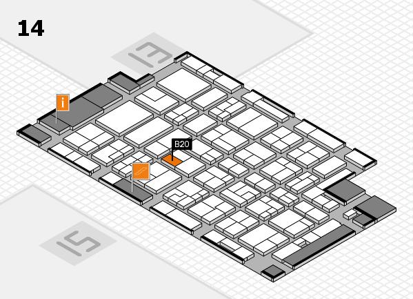 MEDICA 2016 hall map (Hall 14): stand B20