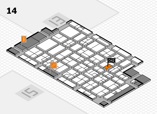 MEDICA 2016 hall map (Hall 14): stand D42