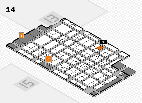 MEDICA 2016 hall map (Hall 14): stand F33