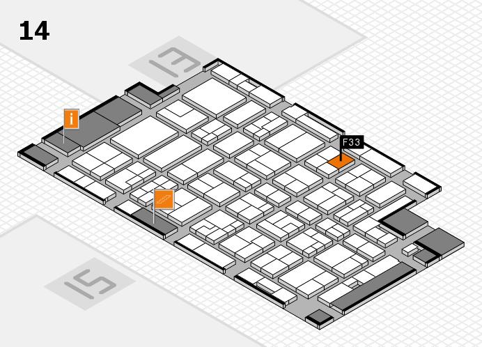 MEDICA 2016 Hallenplan (Halle 14): Stand F33