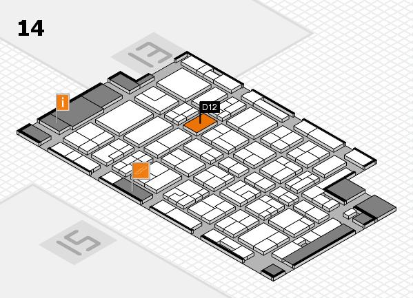 MEDICA 2016 Hallenplan (Halle 14): Stand D12