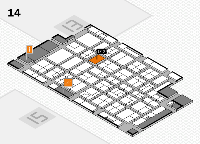 MEDICA 2016 hall map (Hall 14): stand D12