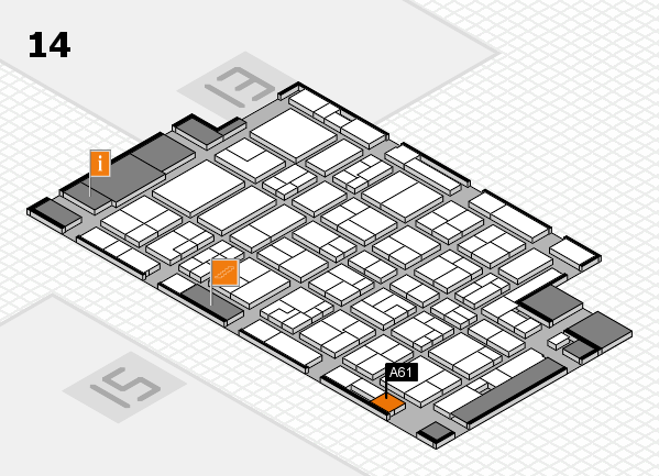 MEDICA 2016 hall map (Hall 14): stand A61