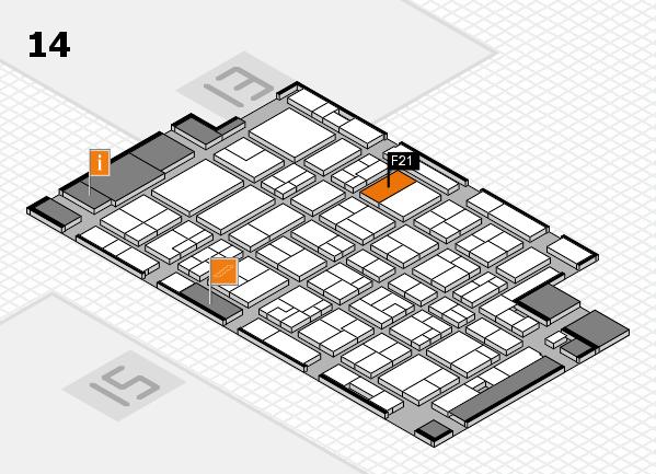 MEDICA 2016 hall map (Hall 14): stand F21