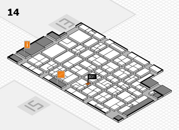 MEDICA 2016 hall map (Hall 14): stand B31