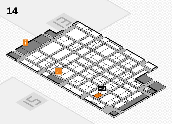MEDICA 2016 Hallenplan (Halle 14): Stand A48