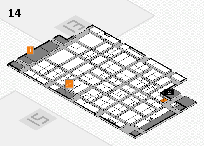 MEDICA 2016 hall map (Hall 14): stand D53