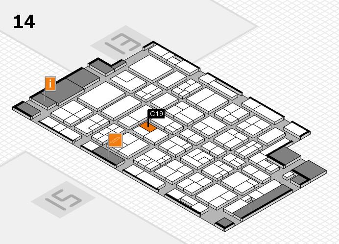 MEDICA 2016 hall map (Hall 14): stand C19