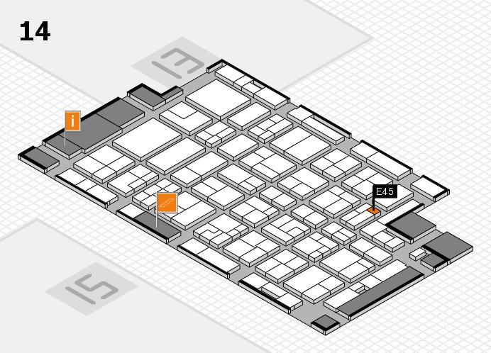 MEDICA 2016 hall map (Hall 14): stand E45