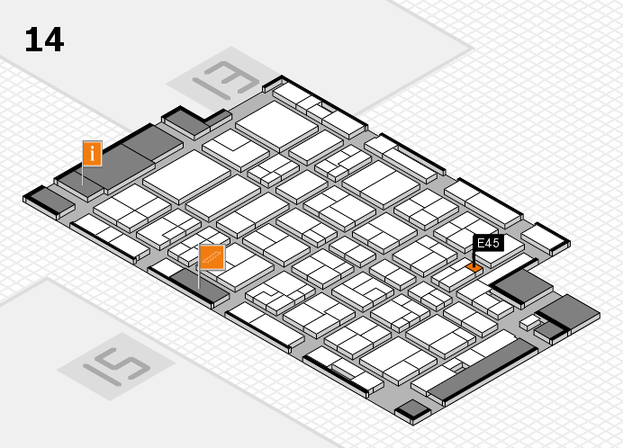 MEDICA 2016 Hallenplan (Halle 14): Stand E45