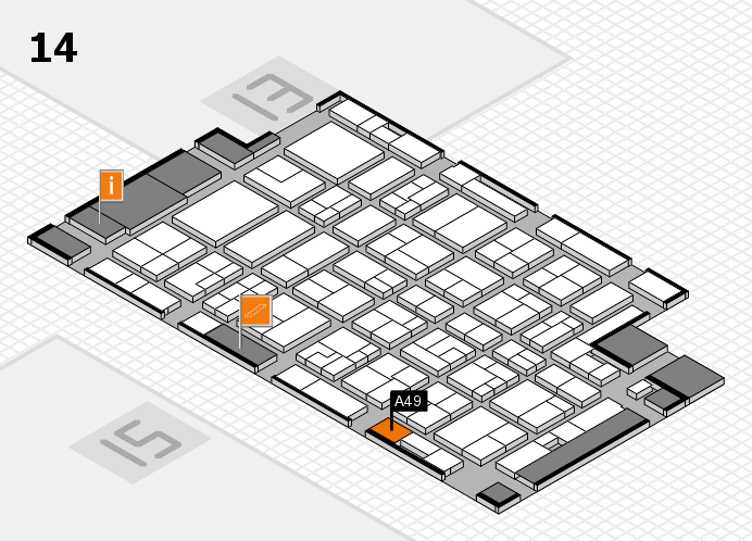 MEDICA 2016 hall map (Hall 14): stand A49