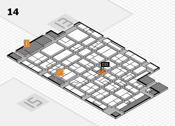 MEDICA 2016 hall map (Hall 14): stand D33