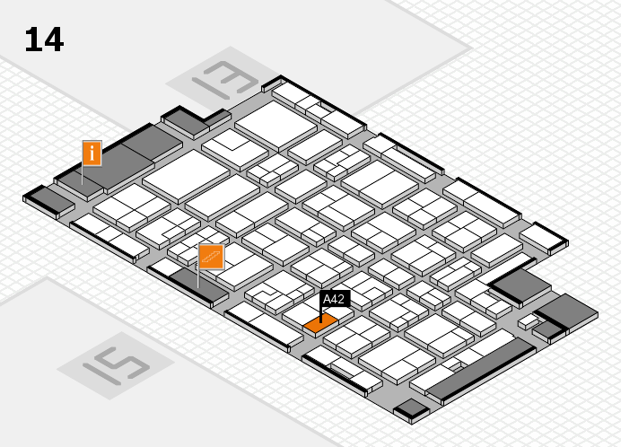 MEDICA 2016 hall map (Hall 14): stand A42