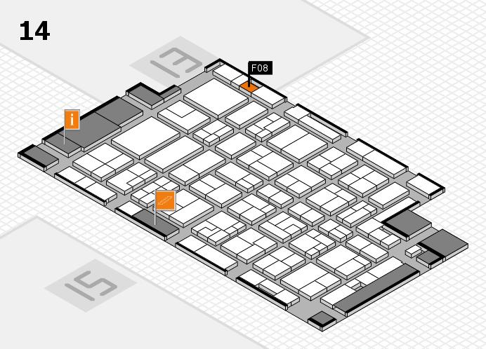 MEDICA 2016 hall map (Hall 14): stand F08
