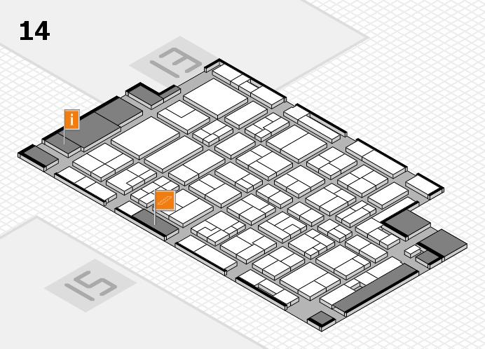MEDICA 2016 hall map (Hall 14): stand D41