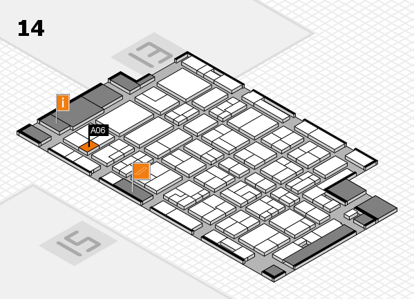 MEDICA 2016 hall map (Hall 14): stand A06