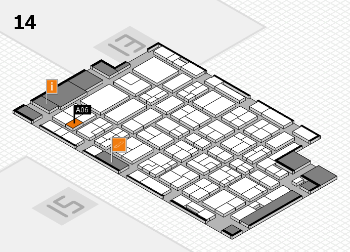 MEDICA 2016 Hallenplan (Halle 14): Stand A06