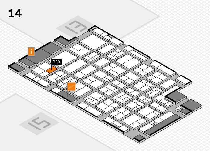 MEDICA 2016 hall map (Hall 14): stand B09
