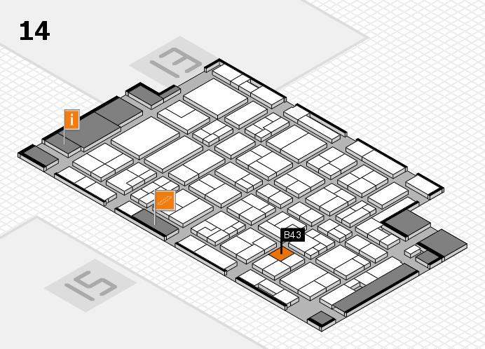 MEDICA 2016 hall map (Hall 14): stand B43