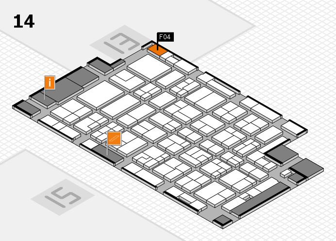 MEDICA 2016 hall map (Hall 14): stand F04