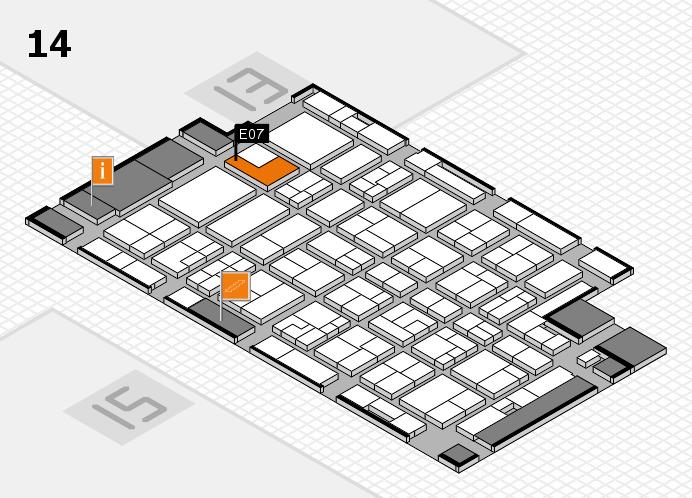 MEDICA 2016 Hallenplan (Halle 14): Stand E07
