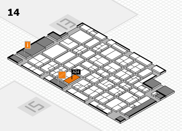 MEDICA 2016 hall map (Hall 14): stand A24